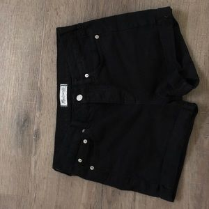 Madewell boyfriend shorts denim-black